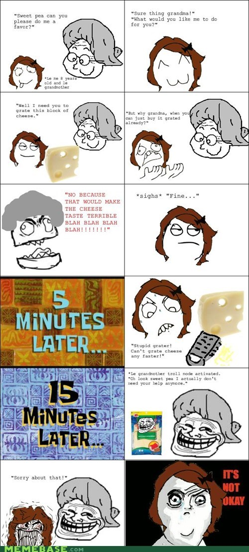 cheese not okay troll face - 6562012928