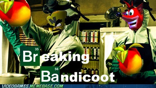 breaking bad,crash bandicoot,crossover
