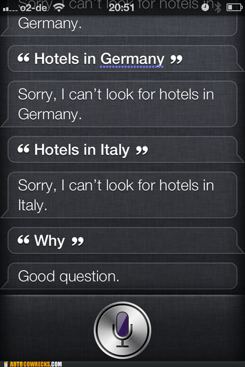 europe siri hotels funny