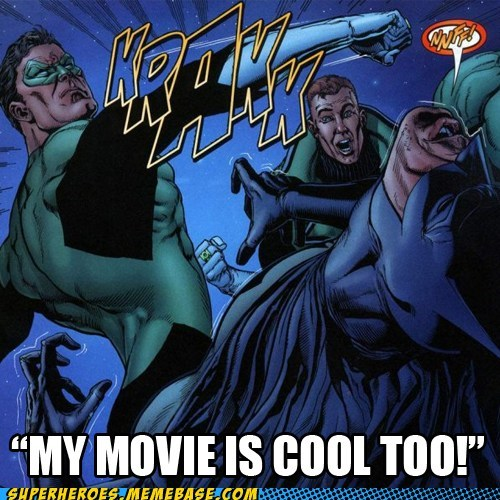 batman,Green lantern,Movie,punch