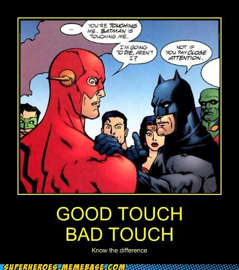 bad touch batman flash good touch - 6562689792