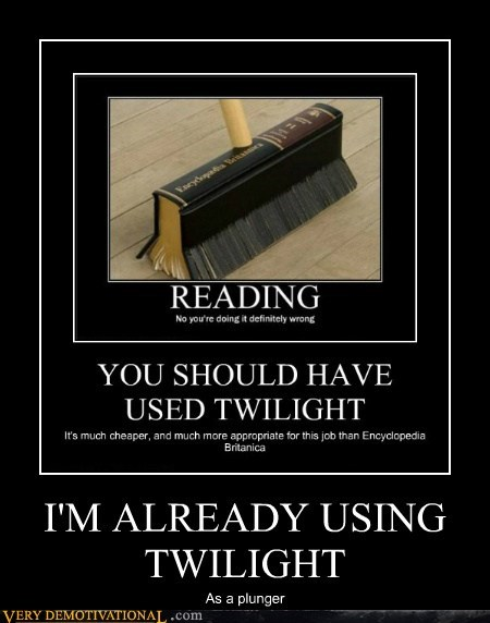 book,plunger,twilight