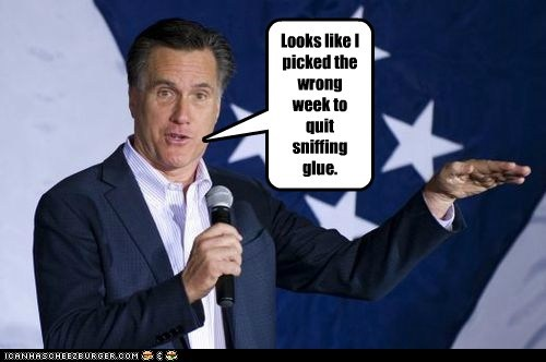 airplane Mitt Romney quote sniffing glue week