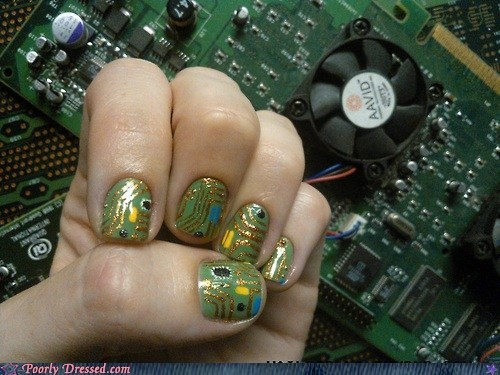 computer chips,finger nails,nail polish,Tech
