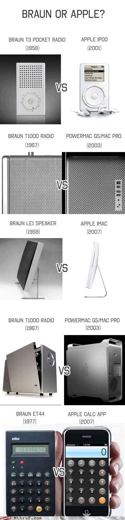 apple,apple vs braun,braun,braun vs apple,calculator,iphone,ipod,le1,mac