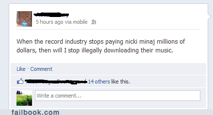 nicki minaj piracy pirating music pirating songs recording industry RIAA the pirate bay tpb - 6563281152