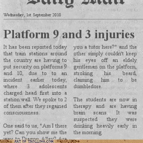 books drunk Harry Potter platform-9-34