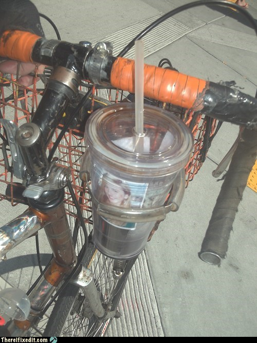 bicycle,cup holder,minivan