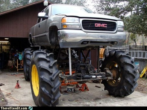 big wheel bro douchebag lifted truck pickup redneck truck - 6563448576