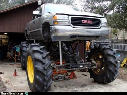 big wheel bro douchebag lifted truck pickup redneck truck - 6563448576