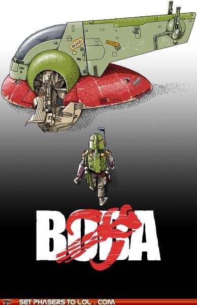 Akira boba fett mashup Movie poster - 6563458304