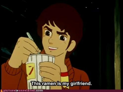 cartoons eating food girlfriend out of context