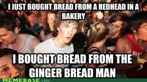bread ginger gingerbread man rhymes sudden clarity clarence - 6563631104