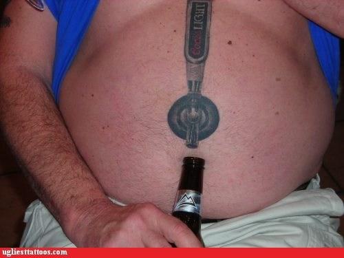 beer tap belly tattoos - 6563647232