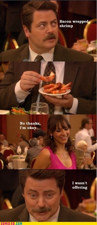 bacon,parks and rec,ron swanson,TV