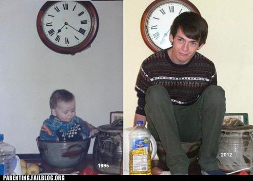 baby pics,Before And After,recreation photo