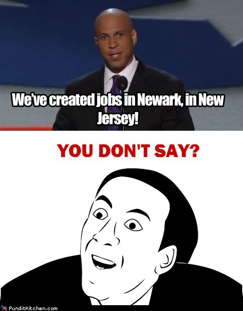 cory booker dnc New Jersey newark niclolas cage rage face you dont say - 6563702016