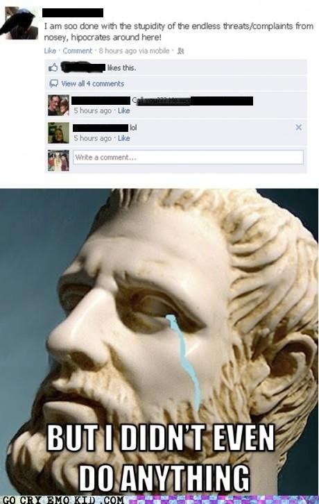 emo,facebook,hippocrates,hypocrites