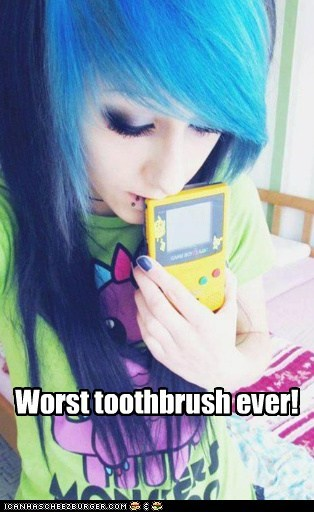 pikachu,pokemon poser,toothbrush