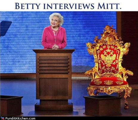 betty white chair Clint Eastwood dnc Mitt Romney - 6563860224