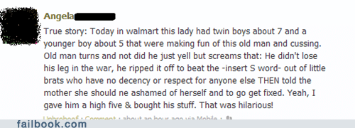 old man win,owned,Walmart,win