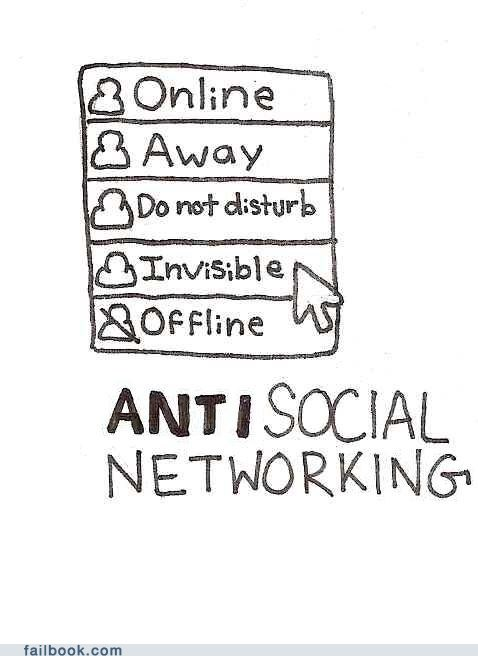 antisocial networking chatting facebook chat go offline
