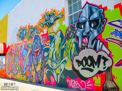 doom graffiti hacked irl mf doom Street Art - 6564067840