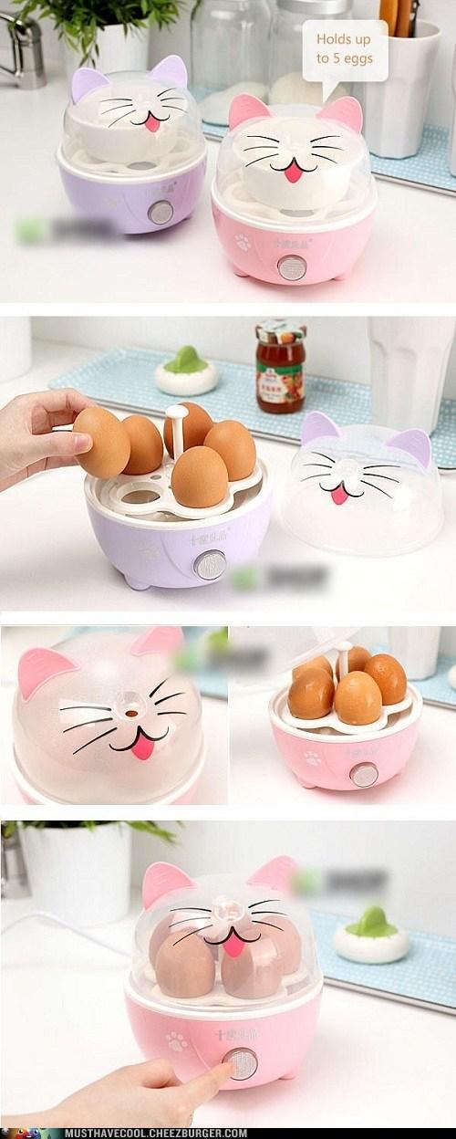 appliance eggs kawaii kitchen kitty - 6564075776