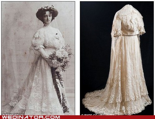 antique dress gown history lace old vintage - 6564091648