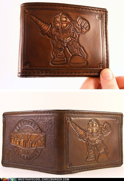 bioshock character leather video game wallet