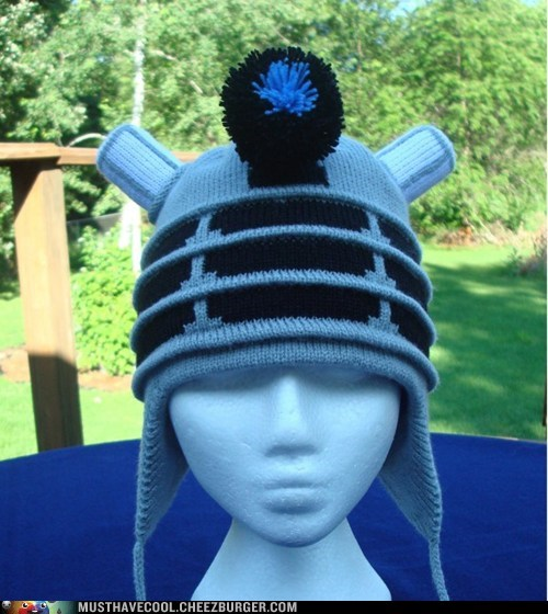 dalek doctor who Exterminate hat Knitted - 6564130048