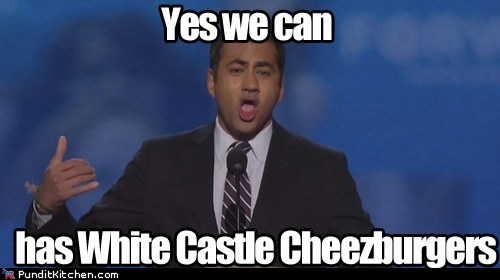 cheezburger,dnc,harold and kumar,I Can Has Cheezburger,kal penn,White Castle,yes we can