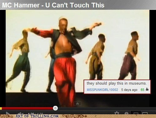 cant-touch-this,mc hammer,museums,youtube