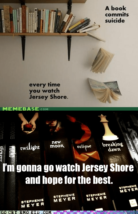 books,jersey shore,suicide,twilight