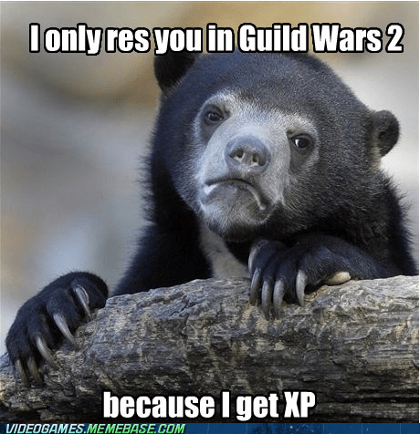 Confession Bear experience guild wars 2 meme - 6564291072