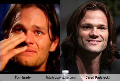 actor celeb funny Jared Padalecki sports TLL tom brady - 6564321792