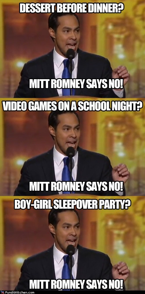 dnc,Julian Castro,line,Mitt Romney,no,parenting,repeated