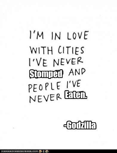 eating people godzilla - 6564353536