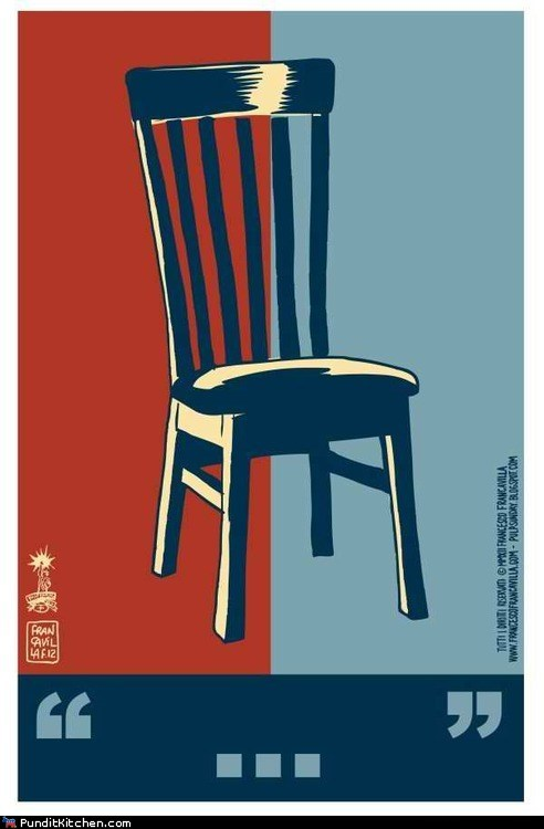 ... chair Clint Eastwood hope invisible obama poster rnc - 6564365568