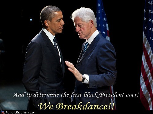 barack obama bill clinton black breakdance dnc election 2012 president - 6564371968