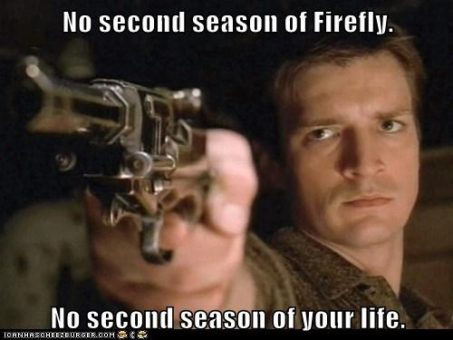captain malcolm reynolds,Firefly,gun,life,nathan fillion,second season