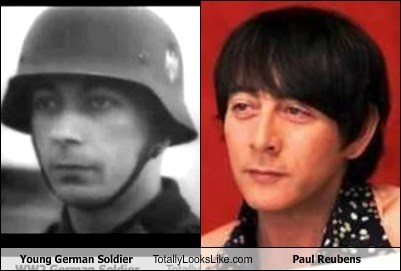 actor celeb funny Paul Reubens soldier TLL