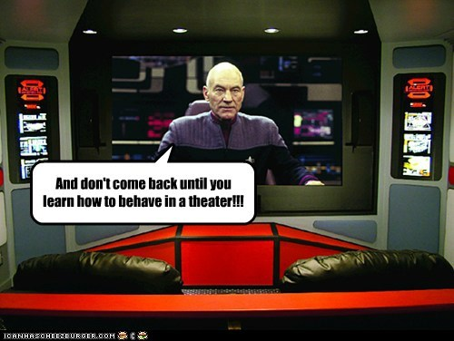 behave Captain Picard dont-come-back empty movie theater patrick stewart Star Trek the next generation - 6565003776
