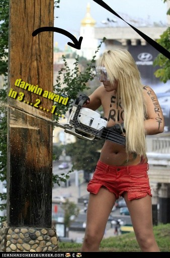 3 2 1 chainsaw countdown cutting down darwin award free pussy riot physics