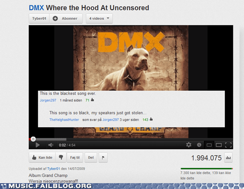 dmx,youtube comments