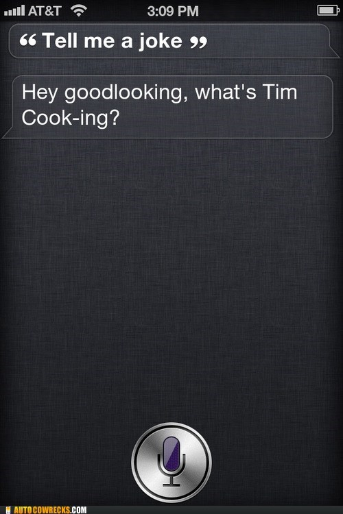 siri tell me a joke terrible tim cook - 6565366528