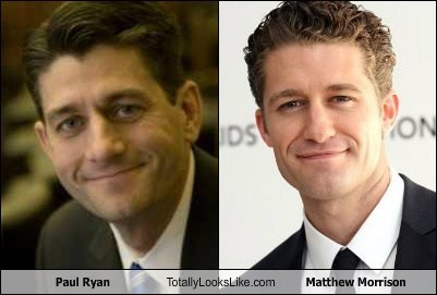 actor celeb funny matthew morrison paul ryan politics TLL - 6565560832