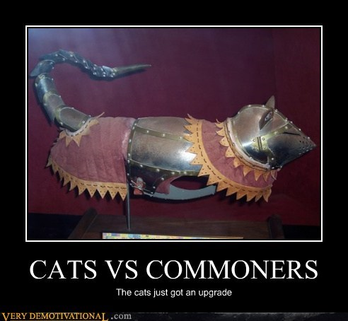 armor,Cats,cats vs commoners,dangerous