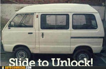 not the same slide to unlock van