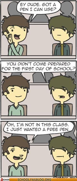 borrowing a pen domics first day of school free pen - 6565683968